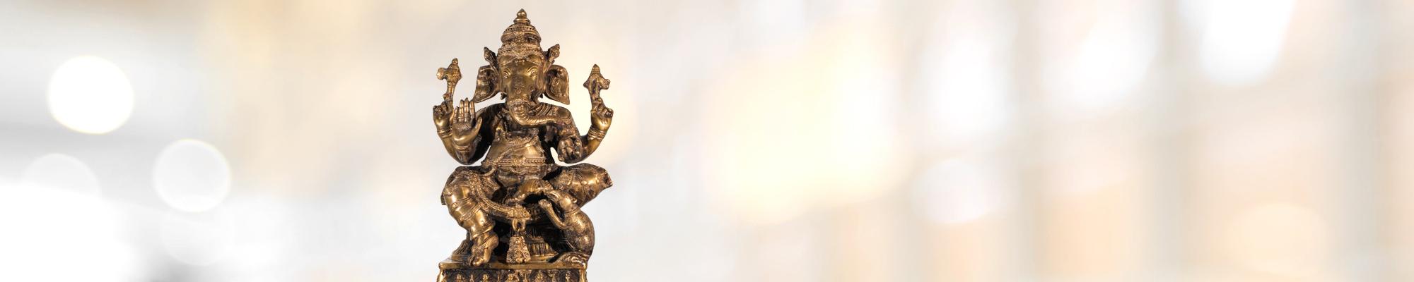 Ganesha begrüßt die Patienten in der Ayurveda-Praxis von Sigrid Lottes.